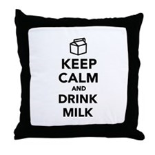 Keep calm and drink Milk Throw Pillow