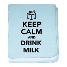 Keep calm and drink Milk baby blanket