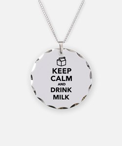 Keep calm and drink Milk Necklace