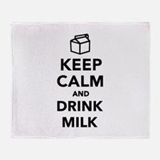 Keep calm and drink Milk Throw Blanket