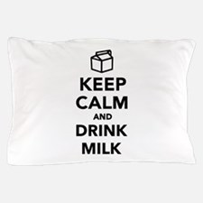 Keep calm and drink Milk Pillow Case