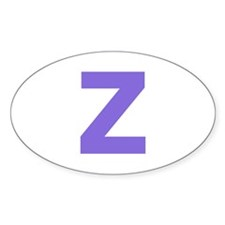 Letter Z Purple Decal