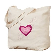 Romeo and Juliette Heart Tote Bag