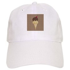 Ice Cream Cone on Polka Dots Baseball Baseball Cap