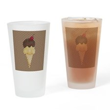 Ice Cream Cone on Polka Dots Drinking Glass