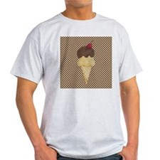 Ice Cream Cone on Polka Dots T-Shirt