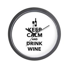 Keep calm and drink Wine Wall Clock