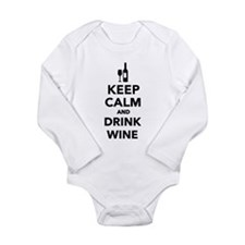 Keep calm and drink Wi Long Sleeve Infant Bodysuit