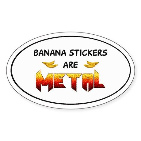 Banana Stickers 2.0 Oval Sticker