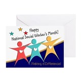 Social worker Greeting Cards (10 Pack)