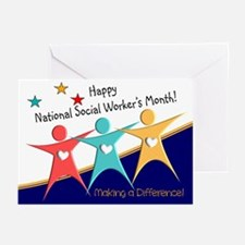 Happy social workers month 1 Greeting Cards