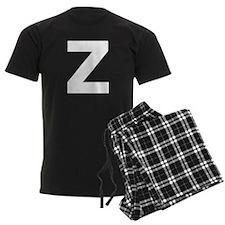 Letter Z White Pajamas