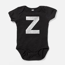 Letter Z White Baby Bodysuit