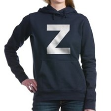 Letter Z White Hooded Sweatshirt