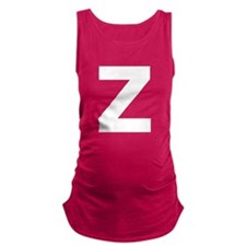 Letter Z White Maternity Tank Top