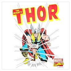 Thor Slam Wall Art Poster
