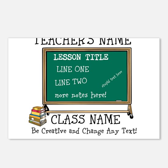 Teacher School Class Personalized Postcards (Packa