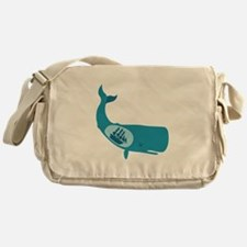 Whale Belly Ship Moby Dick Messenger Bag