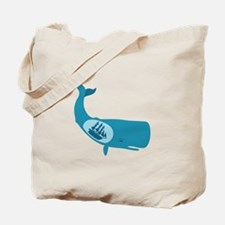 Whale Belly Ship Moby Dick Tote Bag