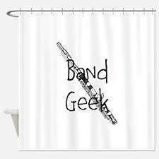 Band Geek Flute Shower Curtain