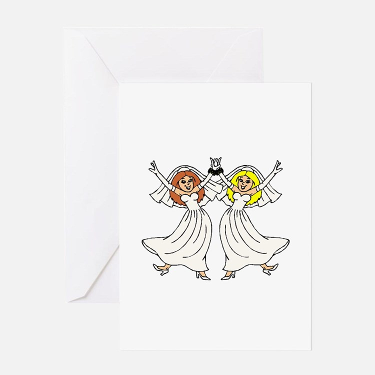 Lesbian Wedding 2 Greeting Cards