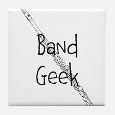 Band Geek Flute Tile Coaster