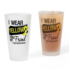 Friend Endometriosis Ribbon Drinking Glass