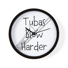 Tubas Blow Harder Wall Clock