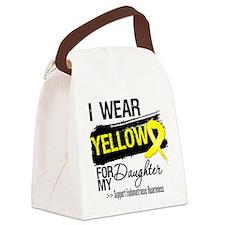 Daughter Endometriosis Ribbon Canvas Lunch Bag