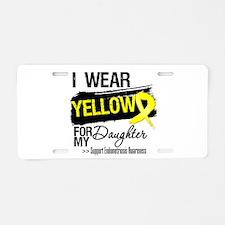 Daughter Endometriosis Ribb Aluminum License Plate