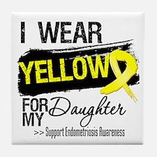 Daughter Endometriosis Ribbon Tile Coaster