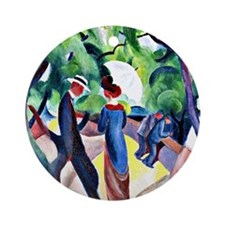 August Macke - Promenade Round Ornament