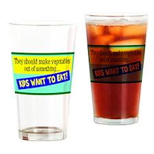 Kids Eatable Vegetables Drinking Glass