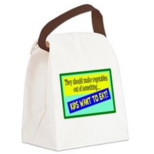 Kids Eatable Vegetables Canvas Lunch Bag