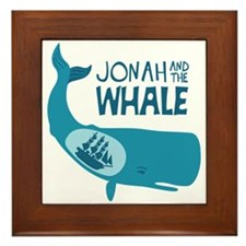 Jonah And The Whale Framed Tile
