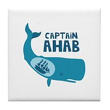 Captain Ahab Tile Coaster