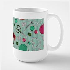 Cute Sewing Love Themed Print Green Mugs