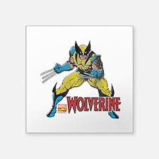 """Vintage Wolverine Square Sticker 3"""" x 3"""""""