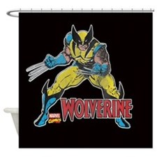 Vintage Wolverine Shower Curtain