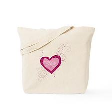Romeo and Juliette Heart Tote Bag