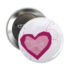 """Romeo and Juliette Heart 2.25"""" Button (10 pack)"""