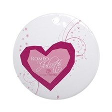 Romeo and Juliette Heart Ornament (Round)