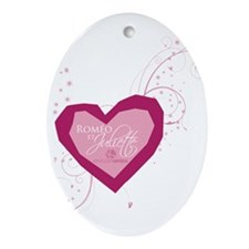 Romeo and Juliette Heart Ornament (Oval)