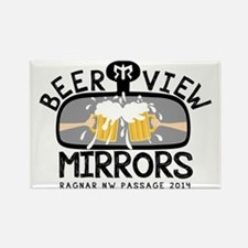 Beer View Mirrors RAGNAR Rectangle Magnet