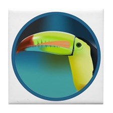 Cute Toucan bird Tile Coaster