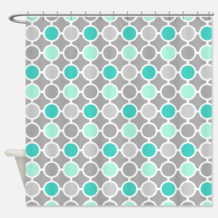 And grey shower curtains aqua and grey fabric shower curtain liner