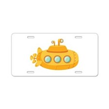 Submarine Aluminum License Plate