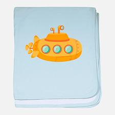 Submarine baby blanket