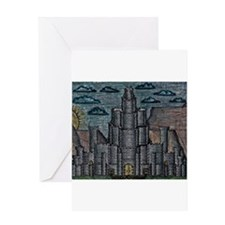 Fortress on the Plateau Greeting Cards