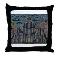 Fortress on the Plateau Throw Pillow